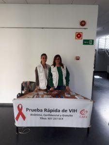 Realización de Prueba Rápida de VIH y colocación de mesa informativa @ Facultad de Enfermería