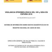 Vigilancia epidemiológica en España 2016