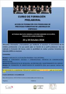 Formación Prelaboral @ Universidad Popular Fray Alonso Fernández de Plasencia